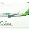 CITILINK 50TH A320 A320 PK GTF AE POSTER