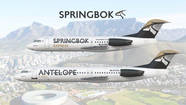 Antelope/Springbok Express | Fokker 100/Fokker 70 | 2011-2015/2015-present