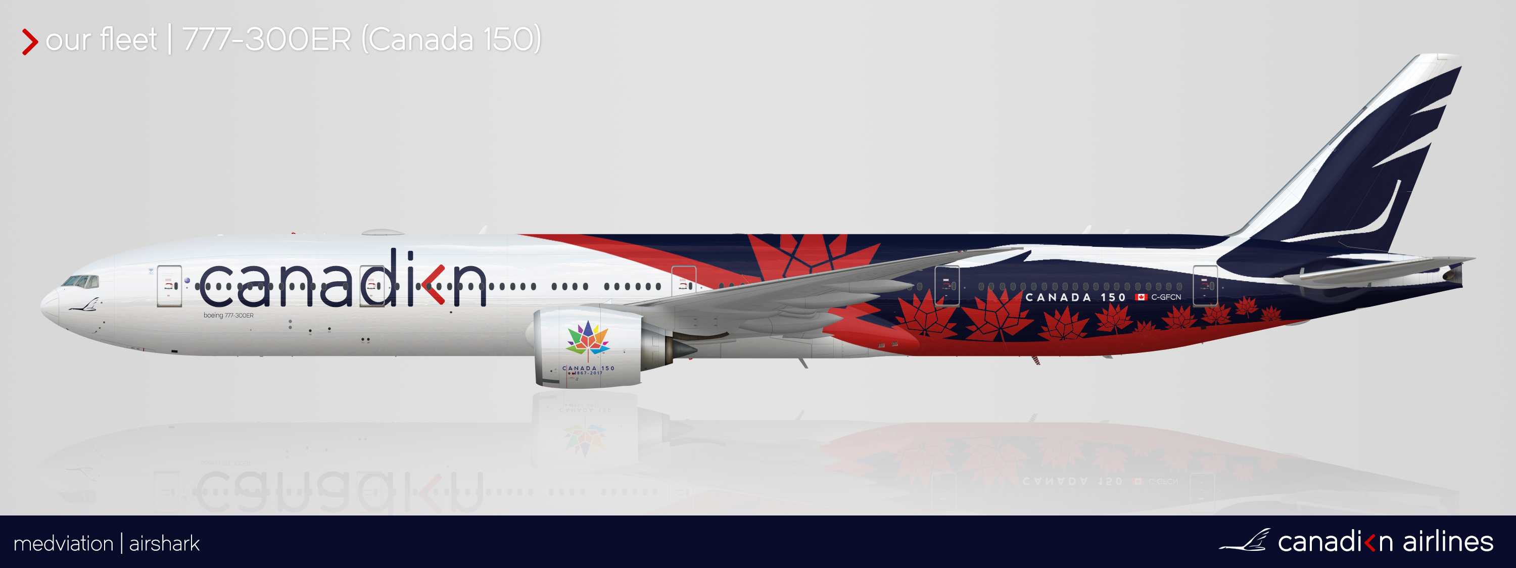 Canadian Airlines Canada 150 Livery Canadian Airlines