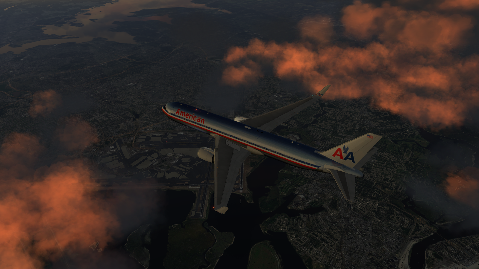 767-300ER over NYC 2 - X plane 10 - Gallery - Airline Empires
