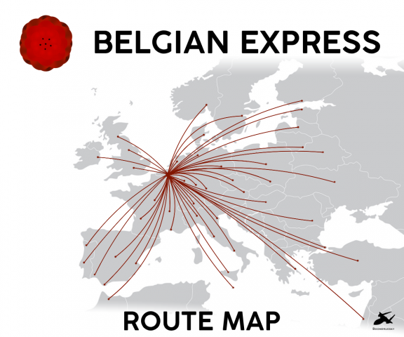 Belgian Express Route Map 2020