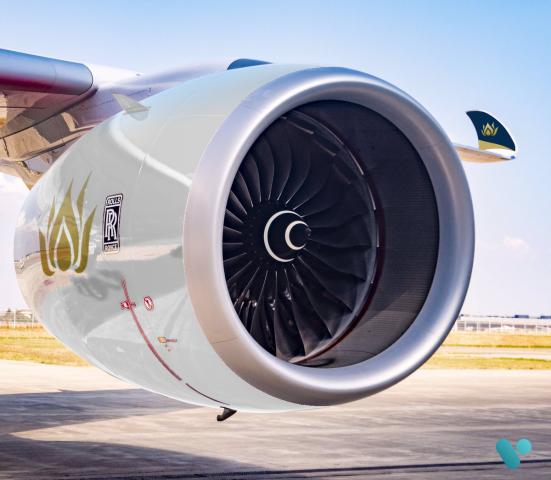 Air Vietnam A350 Engine Close Up