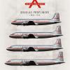 Alden Air Lines Douglas Propliners Poster