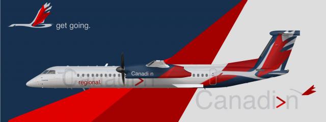 Canadian Bombardier Dash 8 - Q400