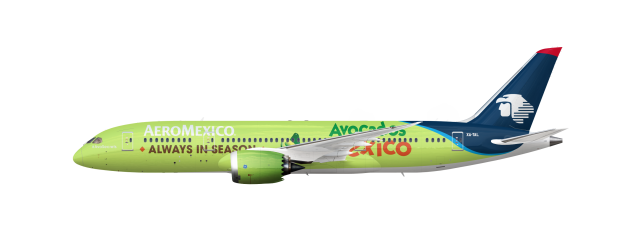 "Boeing 787-8 Aeromexico ""Avocados from Mexico"" Ad"