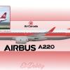 Air Canada 80's Tribute A220-300/Cs300