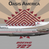 Boeing 727-100 Oasis Anerica 1980s livery