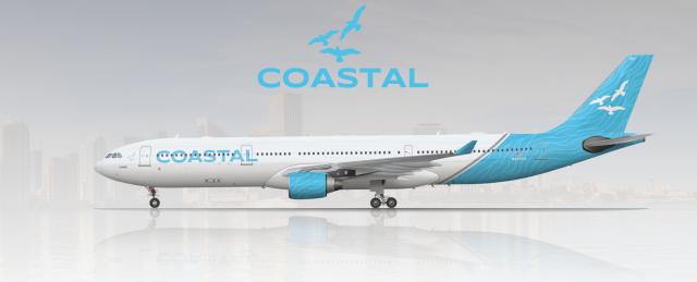 Coastal A330-300 2016 Livery