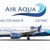 Air Aqua 737 MAX 8 Beach special