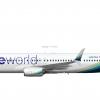 "2. Alaska Airlines ""oneworld Colors"" | Boeing 737-990(ER) (N487AS)"