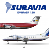 SurAvia Embraer E120 Poster