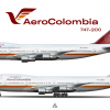 AeroColombia Boeing 747 200 poster