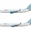 Blue Airlines medium jets (ocean livery)