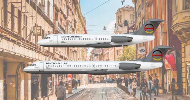Deutscheadler | Fokker 70 & Fokker 100 | Livery Concept 2002-2006