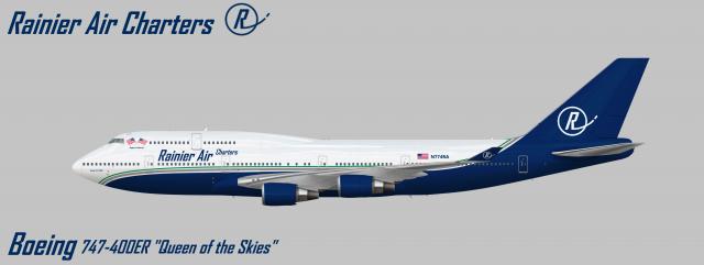 "Rainier Air Charters - Boeing 747-400ER ""Regina Caelorum"" (N744RA)"