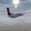 flybritain Q400 over England