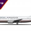 """Boeing 737-400   SoCal Airways   N221SC """"City of Sun Valley"""""""