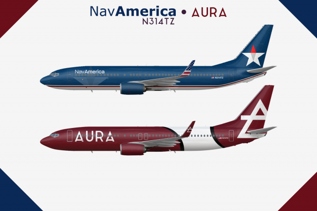 N314TZ 737-800 - A Colorful History