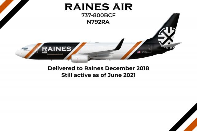 "N792RA 737-800BCF ""Captain Herbert Alaband"" - The Flying Fox"
