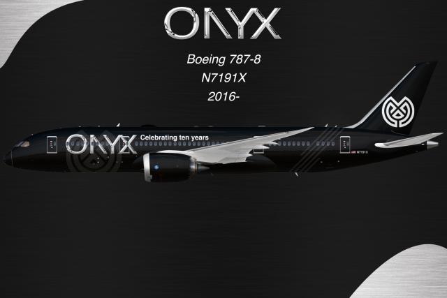 """Onyx Airways 787-8 - N7191X """"Celebrating Ten Years"""""""