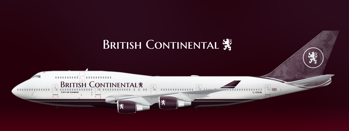 British Continental Airlines Boeing 747-400 - Definitive - Gallery