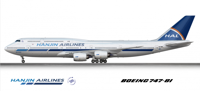 Hanjin Airlines Boeing 747-8I