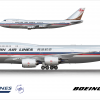 Hanjin Airlines Boeing 747-8I Retro Livery