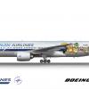 Hanjin Airlines Boeing 777-200ER Kakao Friends c/s