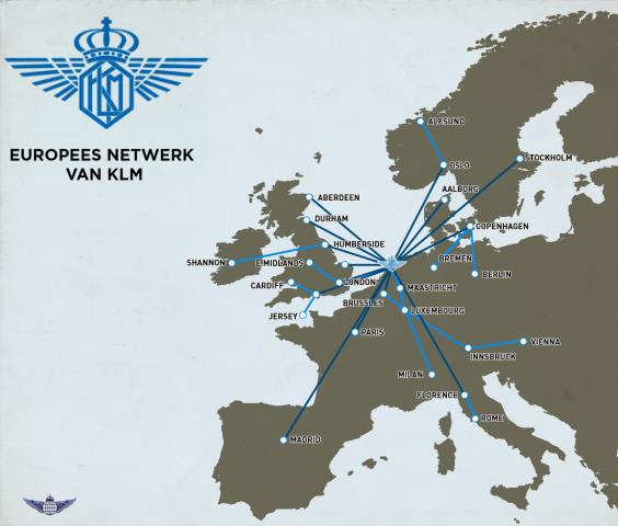 KLM Royal Dutch - 50s European Operations Routemap - Martin ... on malaysia airlines destinations, cargolux route map, envoy air route map, royal jordan route map, air france route map, saudia route map, aegean route map, china eastern route map, alitalia route map, klm cityhopper, ba cityflyer route map, air macau route map, key lime air route map, air niugini route map, delta air lines destinations, air france-klm, iberia destinations, independence air route map, cityjet route map, luxair route map, klm royal dutch airlines, cathay pacific destinations, island air route map, biman route map, eastern air lines route map, tap air portugal route map,