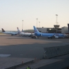 A bunch of 737's and an A320, Note the New winglets on the TUIfly one.