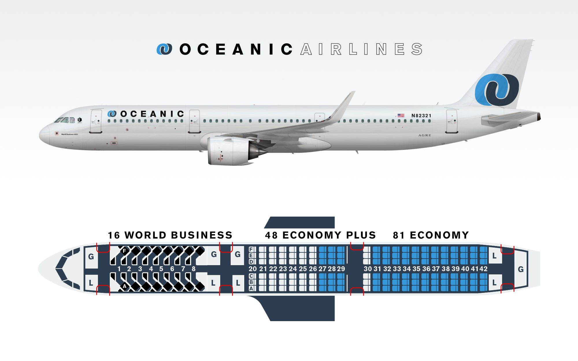 Oceanic A321lr With Seat Map Brand By Agre Gallery