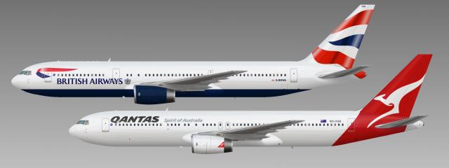British Airways And Qantas 767-300s