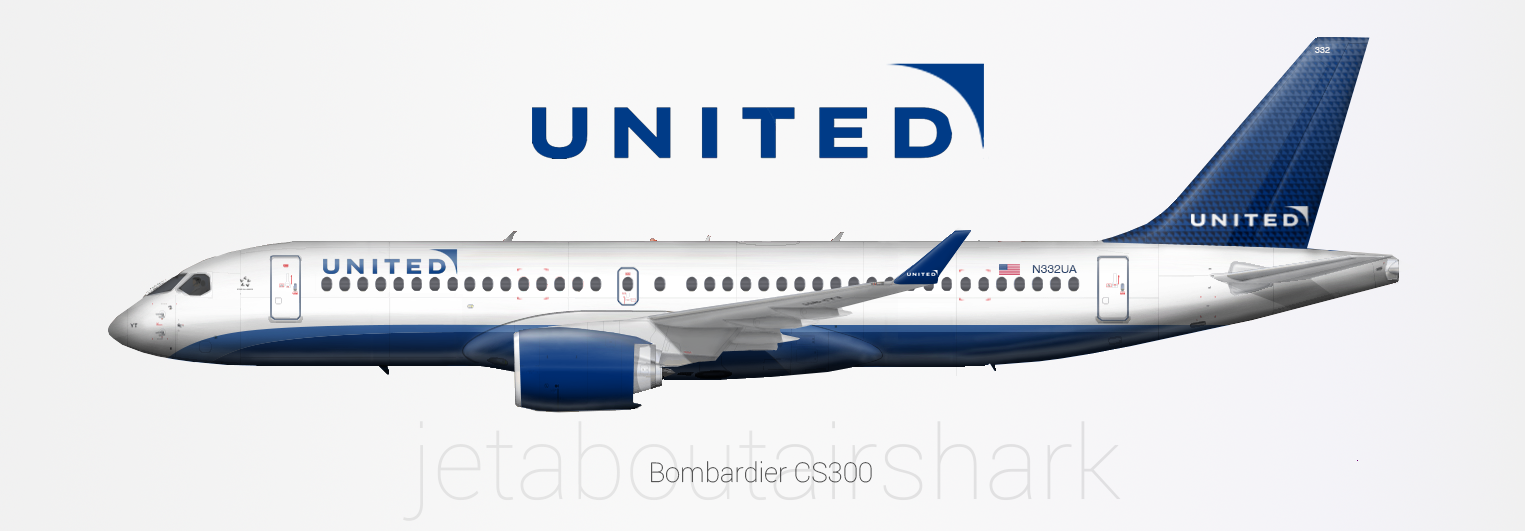 United Airlines Bombardier Cs300 Concept Livery Create
