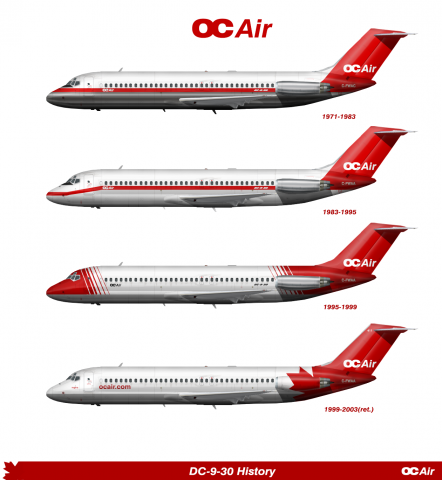 Airline Livery History Dc-9-30 oc Air Livery History