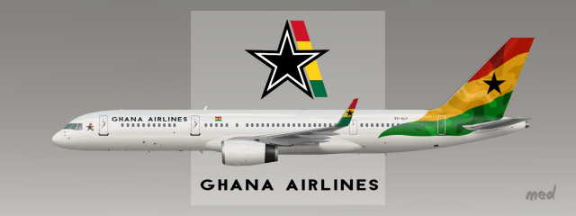 ghana airlines b757 200 livery sketches gallery airline empires