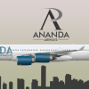 Airbus A340-500 Ananda Airways Livery
