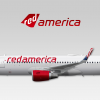 021 - Red America, Airbus A320-200WL