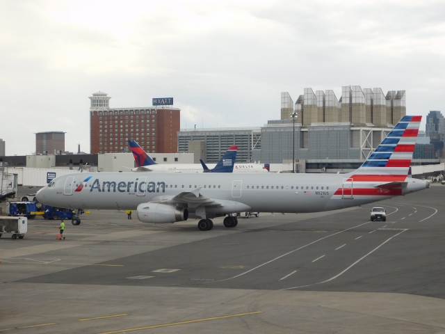 American Airlines A321 At Boston Logan Airport My Photos