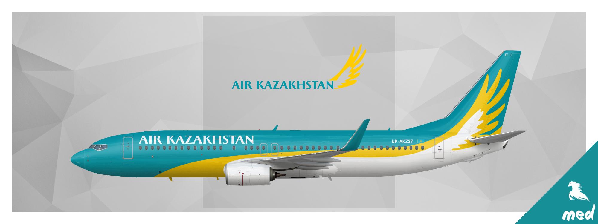 air kazakhstan boeing 737 800 skyswimmer s gallery of confidently rh airline empires com Boeing 787 Dreamliner Boeing X-51