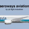 Aeroways Aviation Corporate Livery