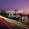 unzipped design.