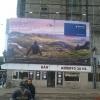 LATAM advertising on Retiro train station