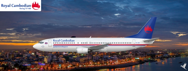 Royal Cambodian Airlines - Boeing 737-400 - The Drawing