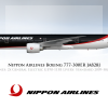 Nippon Airlines Livery Boeing 777-300ER
