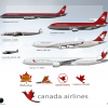 Canada Airlines Fleet History